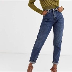 Topshop High Waisted Tapered Leg Mom Jeans